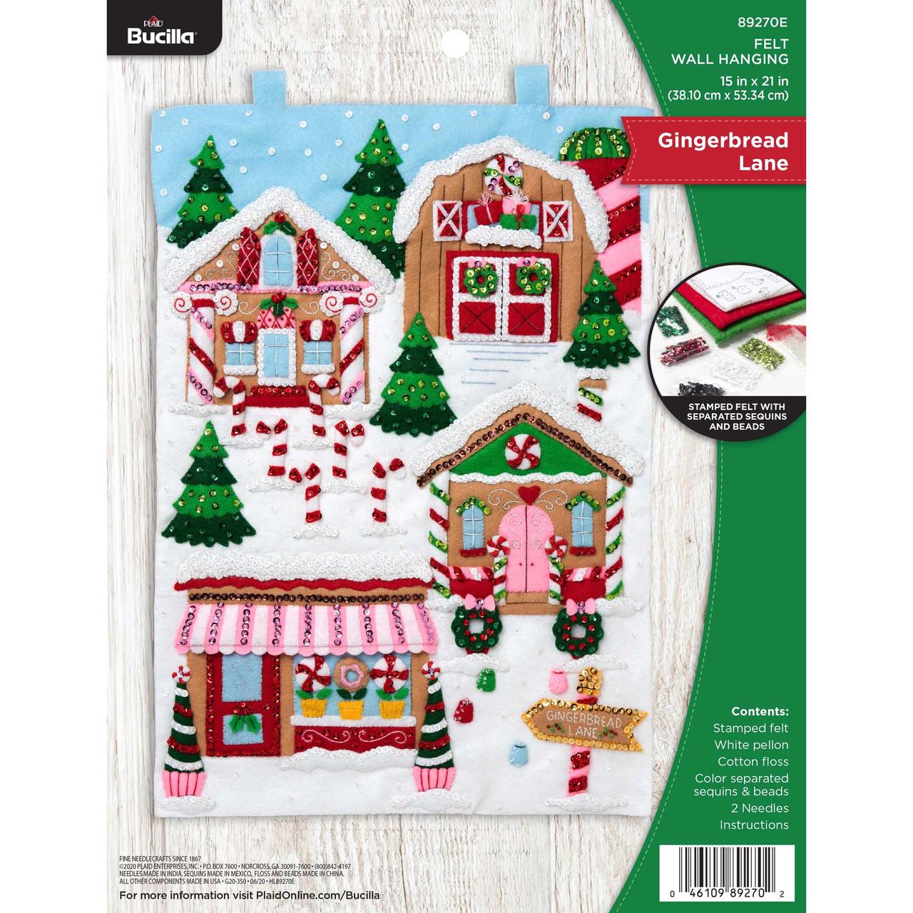 Plaid / Bucilla - Gingerbread Lane Christmas Wall Hanging