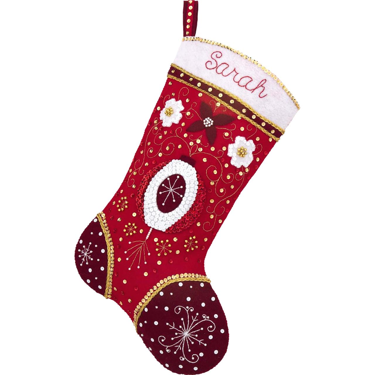 Plaid / Bucilla - Holiday Elegance Christmas Stocking