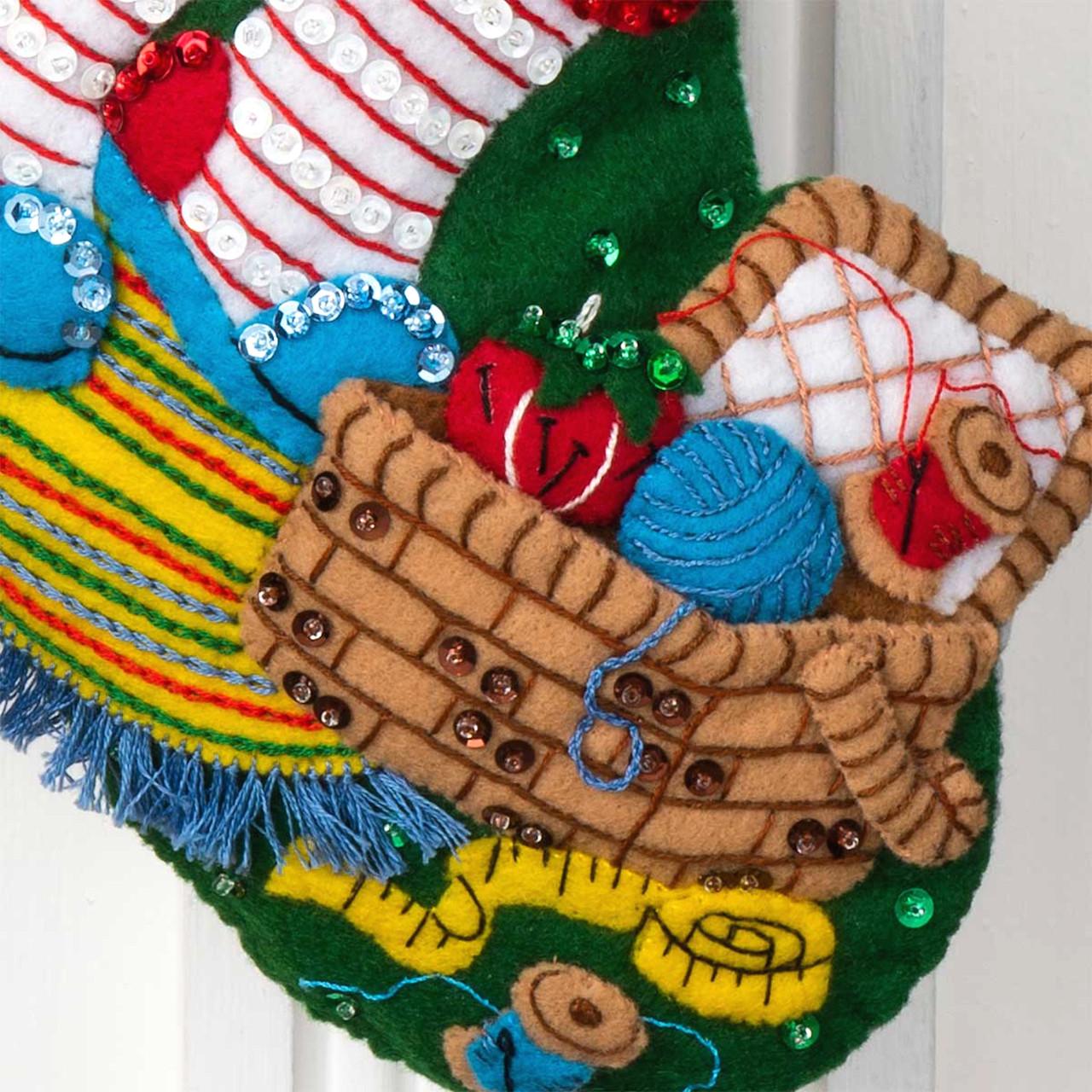 Plaid / Bucilla - Stitching Santa Christmas Stocking