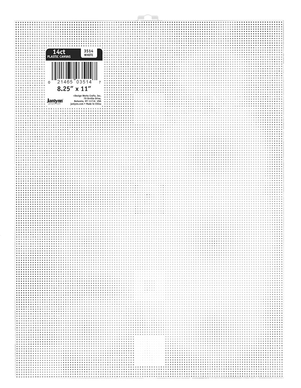 Janlynn - White Plastic Canvas 14 Count 8.25 x 11 inches
