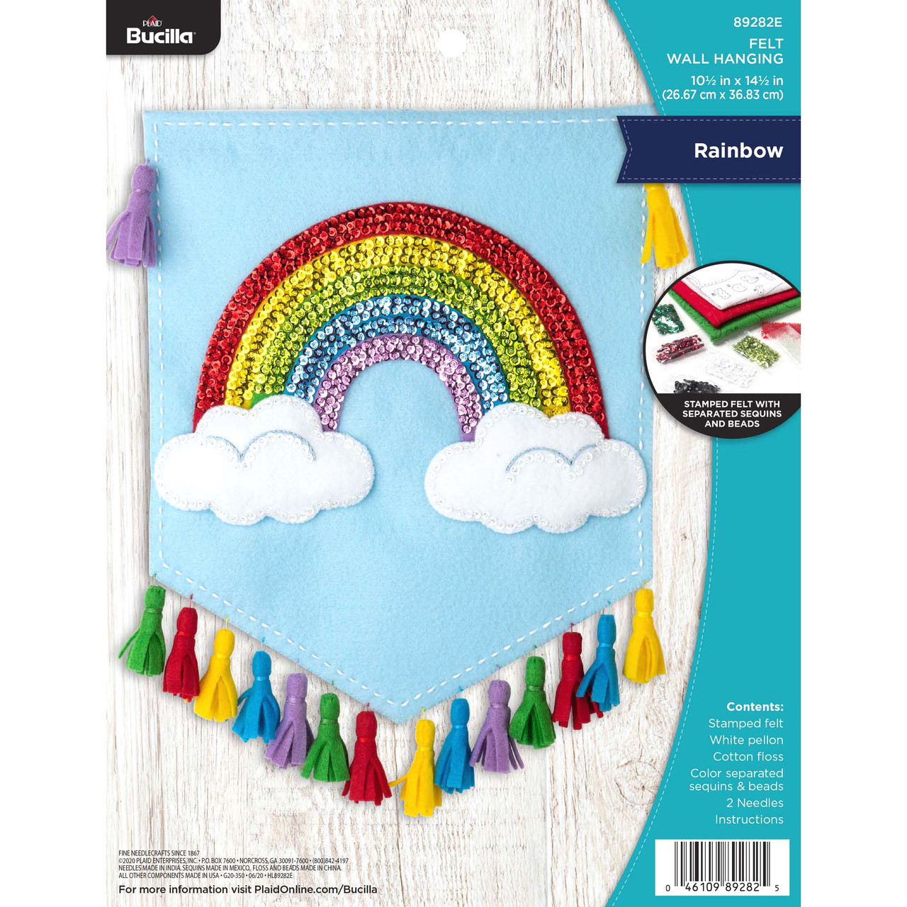 Plaid / Bucilla -  Rainbow Wall Hanging
