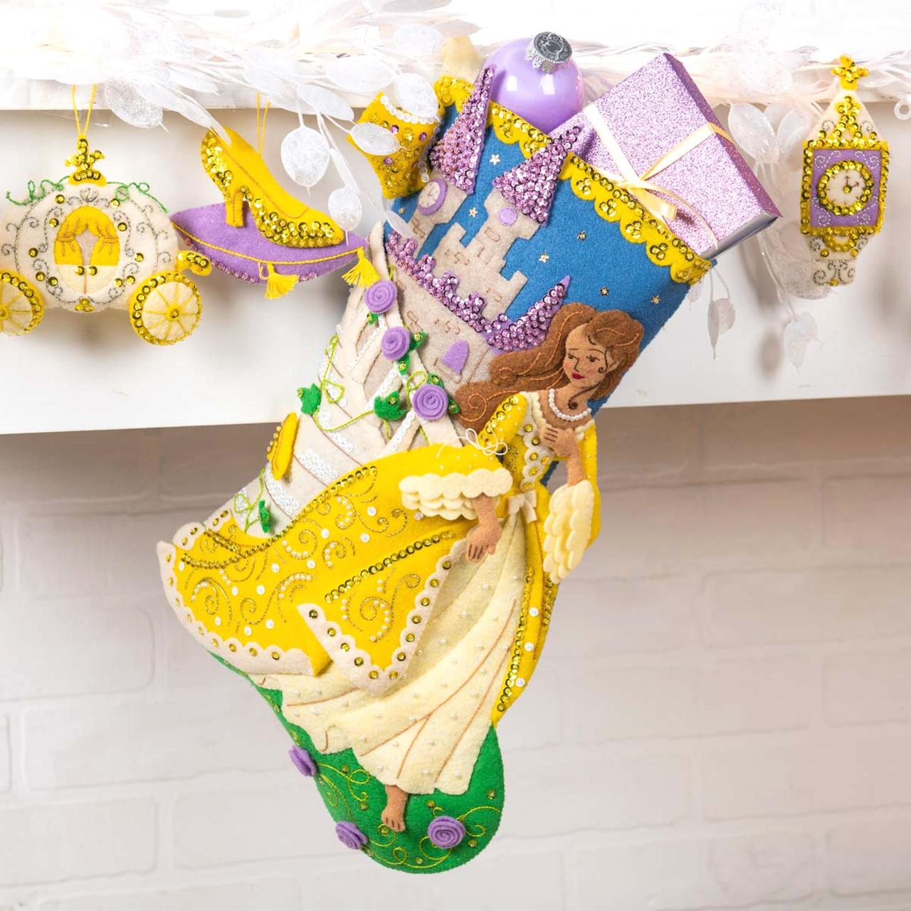 Plaid / Bucilla - The Glass Slipper Christmas Stocking