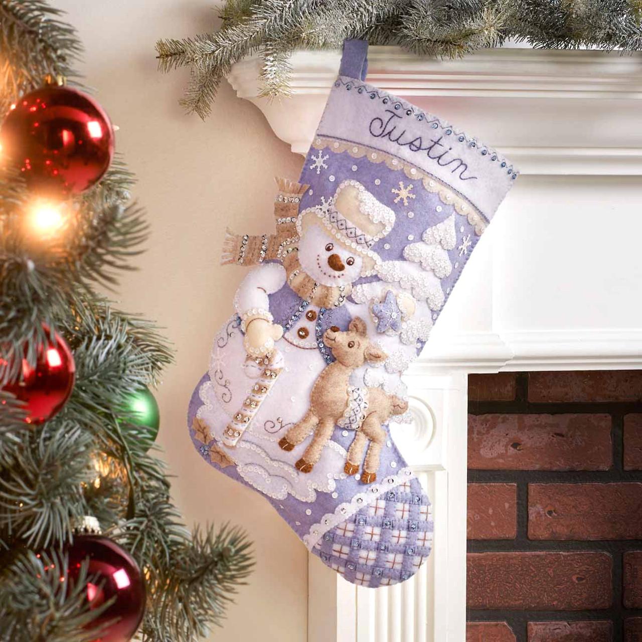 Plaid / Bucilla - Snowman's Winter Wonderland Christmas Stocking