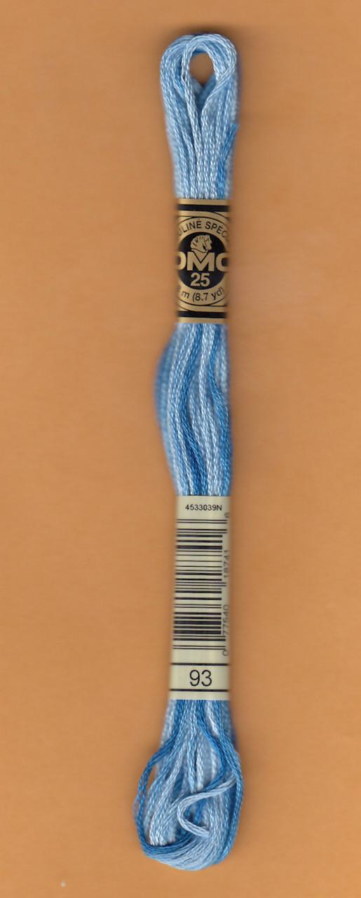 DMC # 93 Variegated Cornflower Blue Floss / Thread