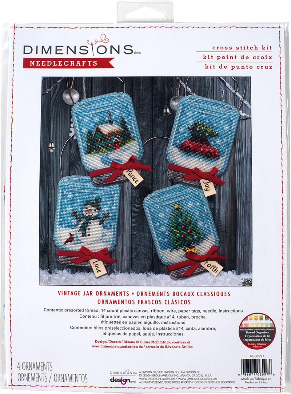 Dimensions -  Vintage Jar Ornaments (Set of 4)