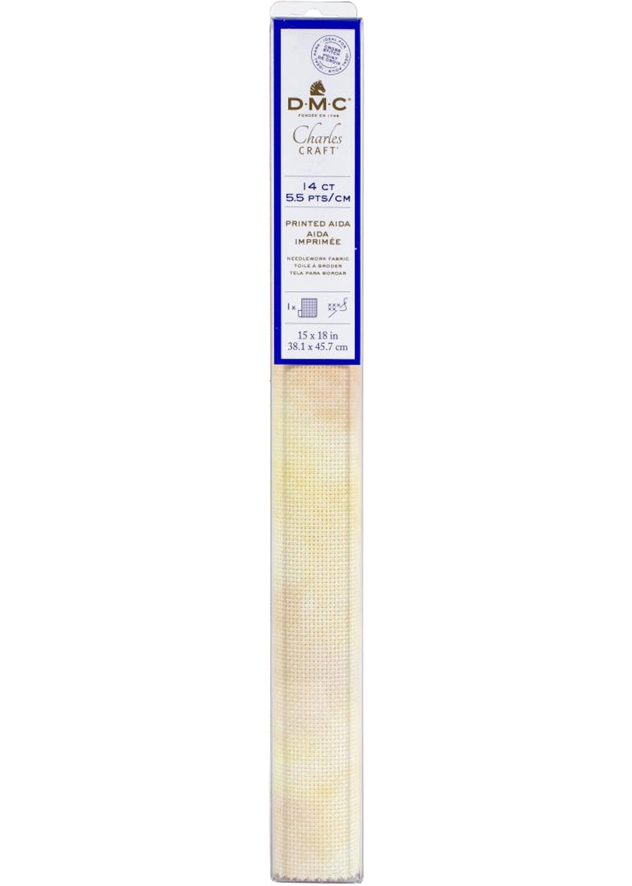 "DMC / Charles Craft Sand Print 14 Count Aida Fabric - 15"" x 18"""