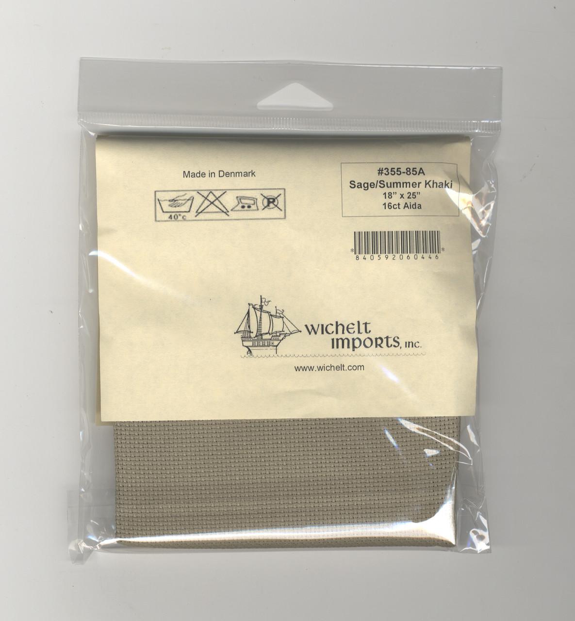 "Wichelt - 16 Count Sage / Summer Khaki Aida 18"" x 25"""