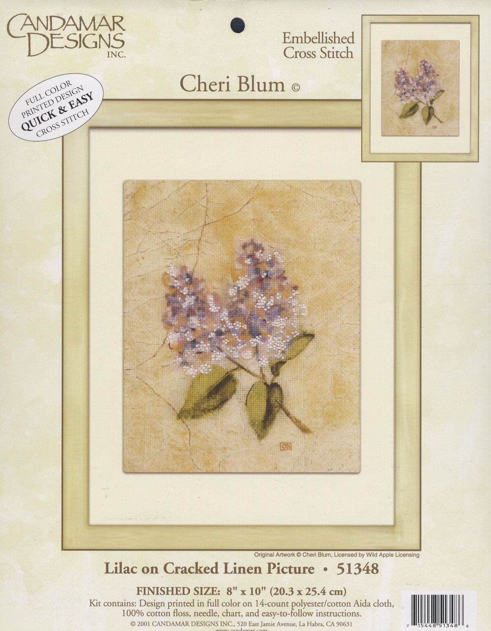 Candamar - Lilac on Cracked Linen