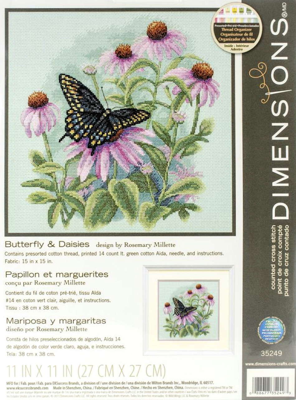 Dimensions - Butterfly and Daisies