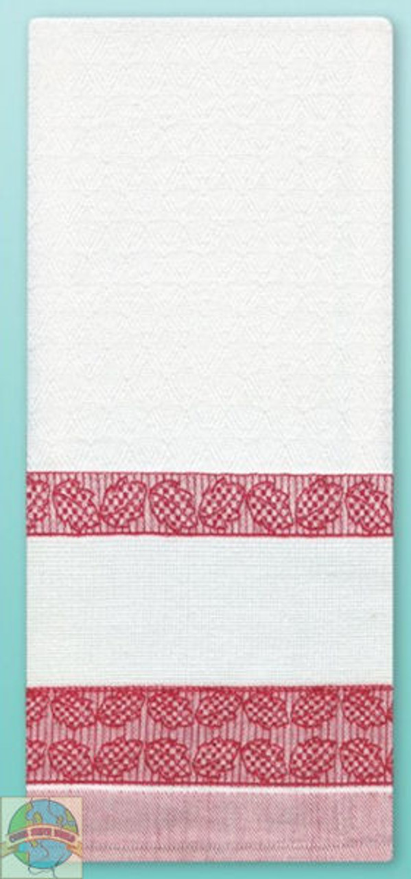 Design Works - Red Leaves Towel w/13ct Panel