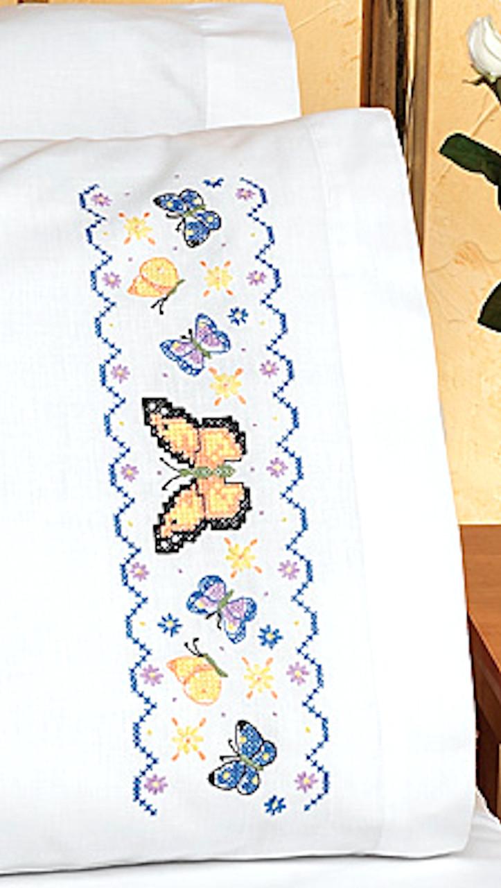 Janlynn - Set of 2 Butterflies Pillowcases