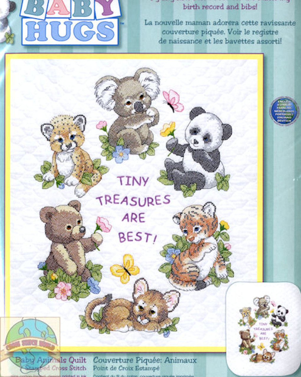 Dimensions Baby Hugs  - Baby Animals Quilt