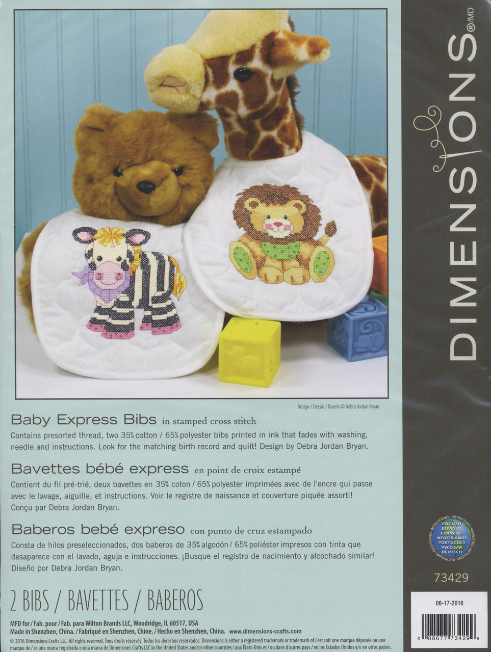 Dimensions - Baby Express Bibs