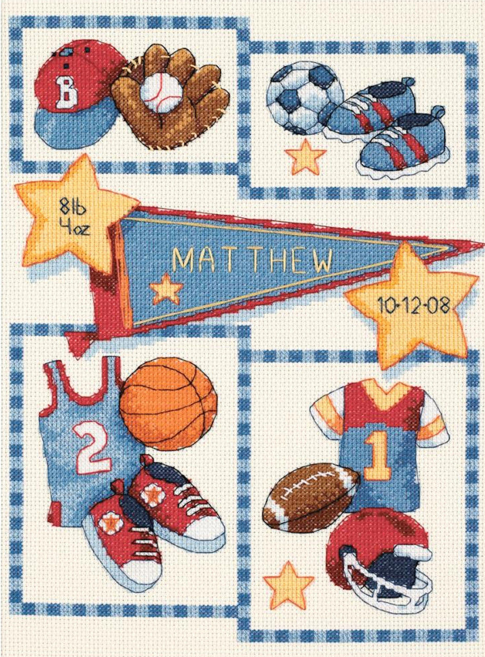 Dimensions Baby Hugs  - Little Sports Birth Record