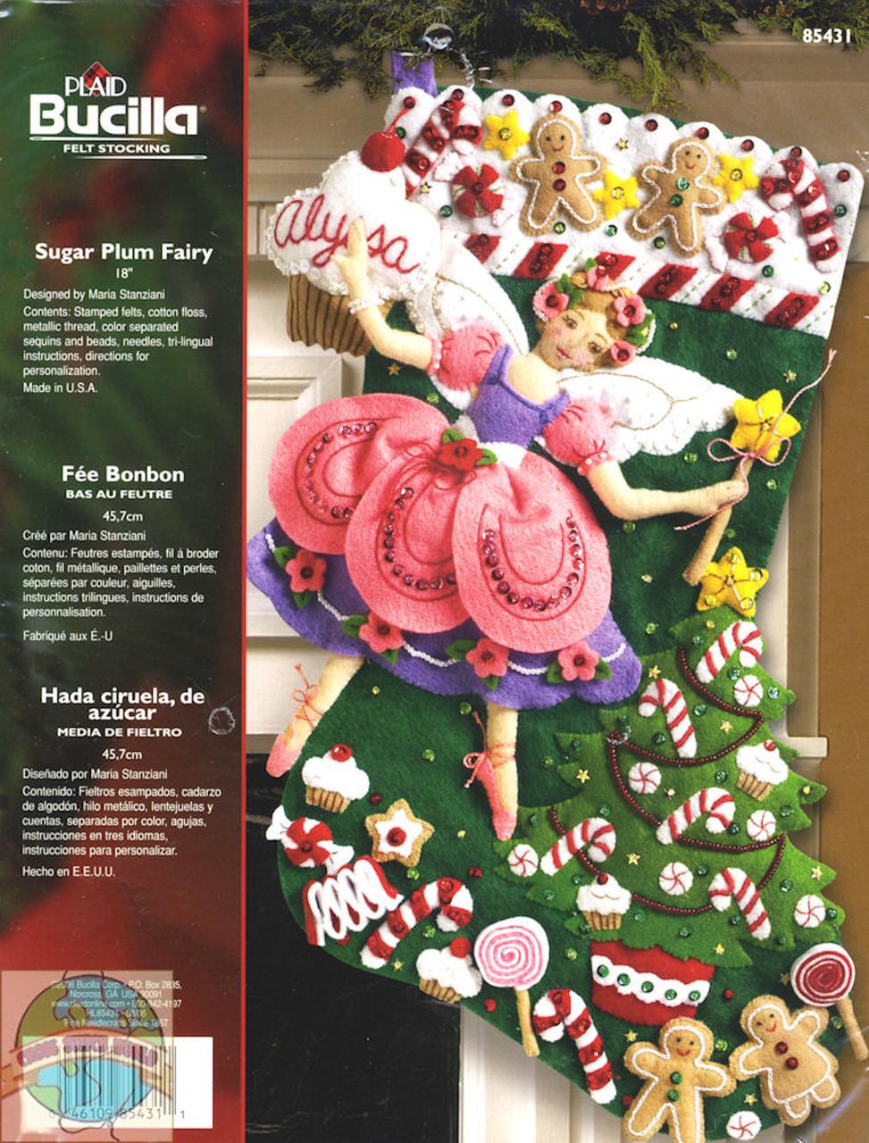 Plaid / Bucilla -  Sugar Plum Fairy Stocking