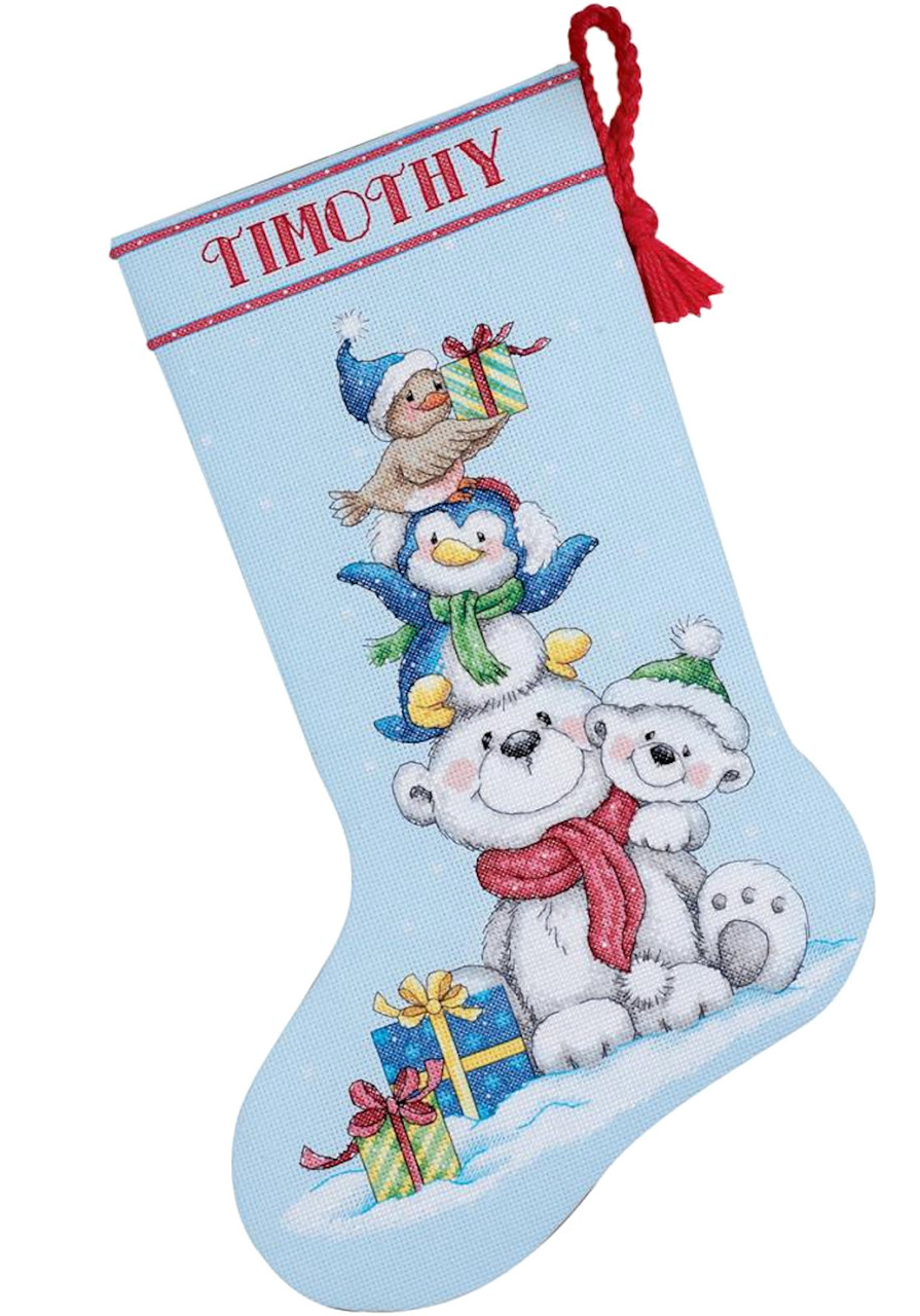 Dimensions - Stack of Critters Stocking