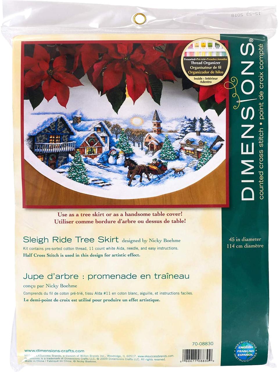 Dimensions - Sleigh Ride Tree Skirt