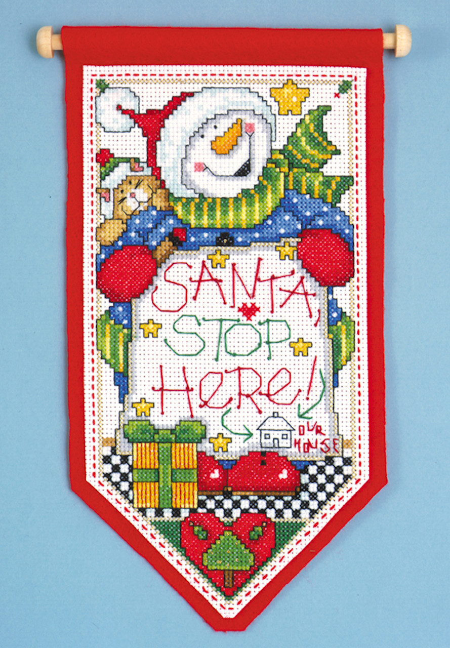 Design Works - Santa Stop Here Banner
