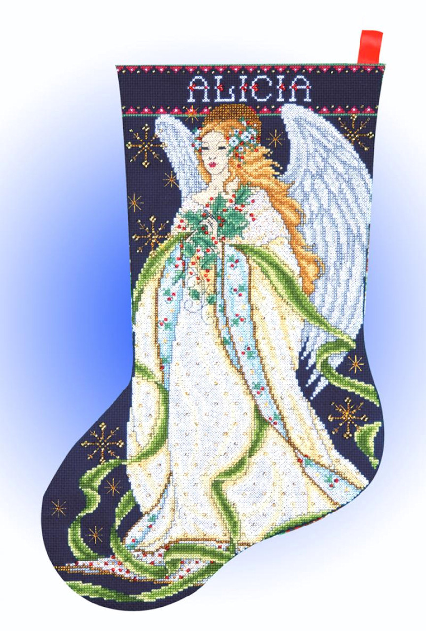 Design Works - Holly Angel Stocking