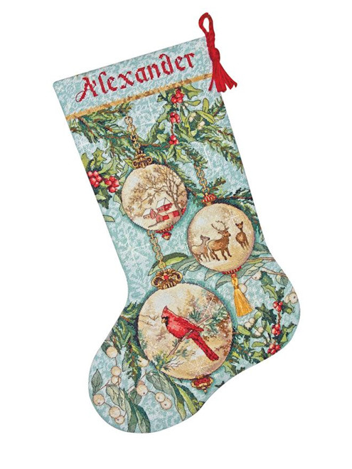 Dimensions Gold Collection - Enchanted Ornaments Stocking