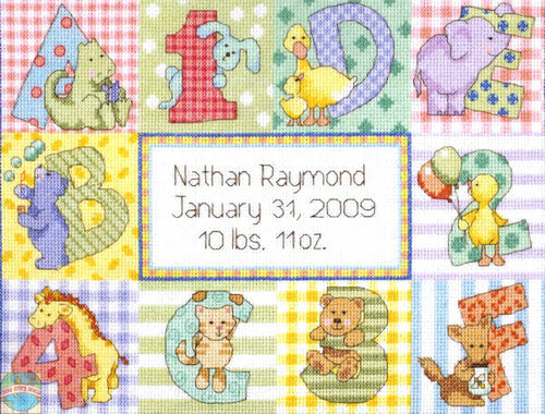 Dimensions Baby - Zoo Alphabet Baby Birth Record
