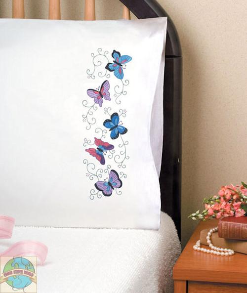 Design Works - Butterflies Pillowcases (2)