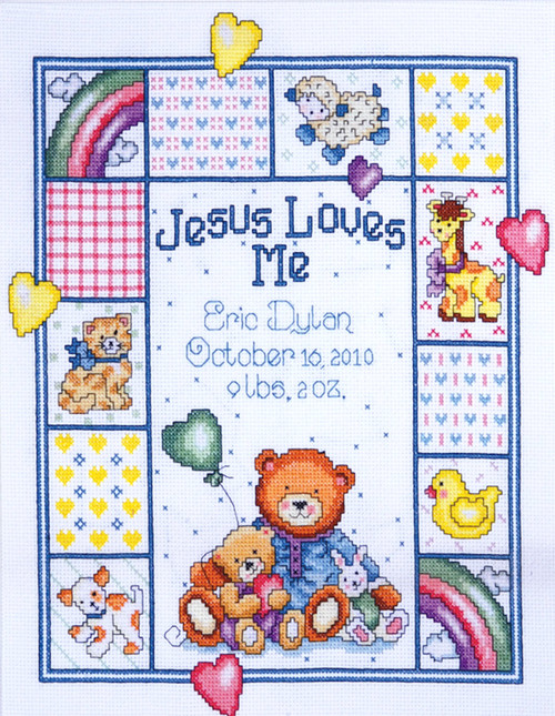 Design Works - Jesus Loves Me Birth Record