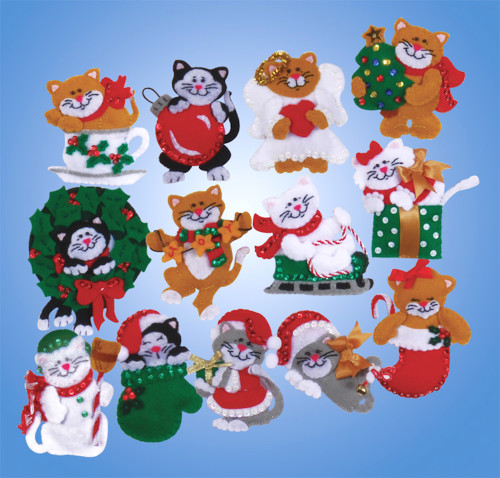 Design Works - Lots of Cats Set of 13 Ornaments