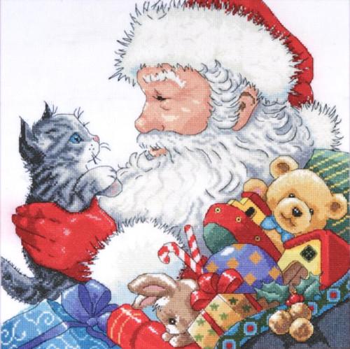 Design Works - Santa with Kitten