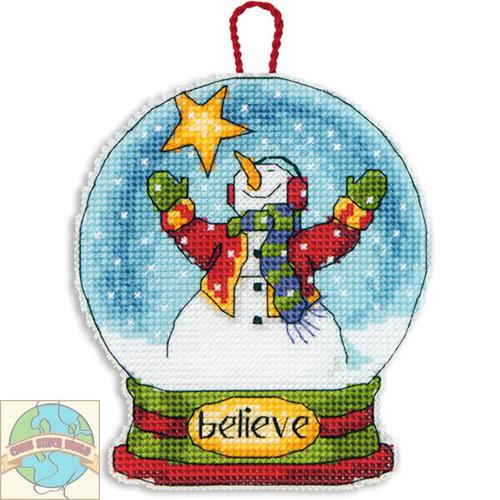 Dimensions - Believe Snow Globe Christmas Ornament