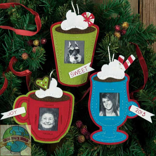 Dimensions - Cocoa Cups Ornaments - SALE!
