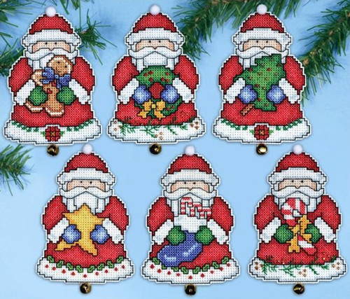 Design Works - Santa's Gifts Ornament Set (6)