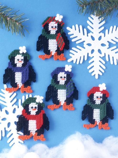 Design Works - Set of 5 Winter Penguins Ornaments