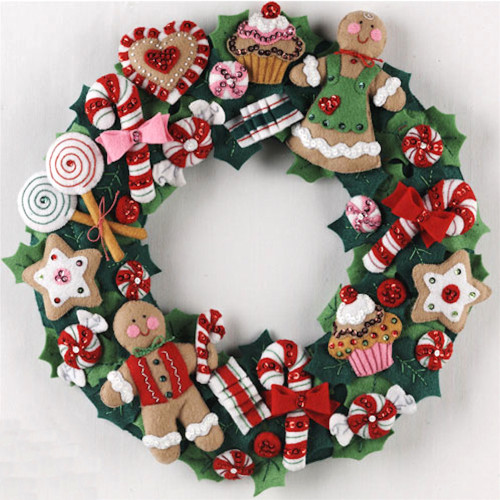 Plaid / Bucilla - Cookies and Candy Wreath