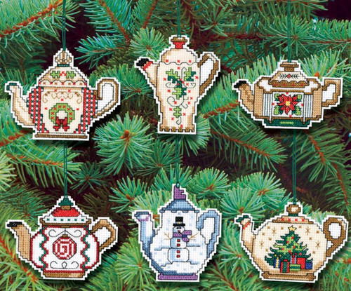"Owl Ornaments Counted Cross Stitch Kit 3/""X3/"" 14 Count Set Of 6 049489001337"