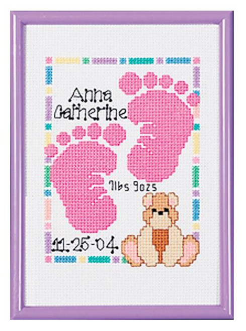Janlynn - Baby Footprints Birth Announcement