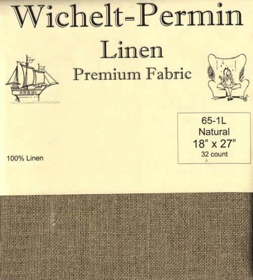 Wichelt - 32 Ct Natural Brown Linen 18 x 27 in