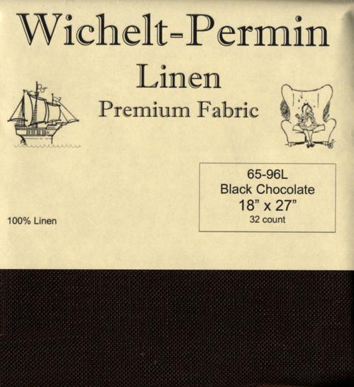 Wichelt - 32 Ct Black Chocolate Linen 18 x 27 in