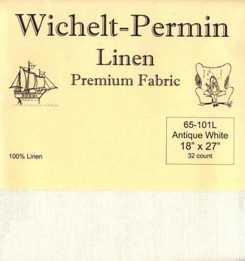 Wichelt - 32 Ct Antique White Linen 18 x 27 in