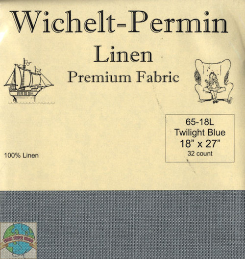 Wichelt - 32 Ct Twilight Blue Linen 18 x 27 in