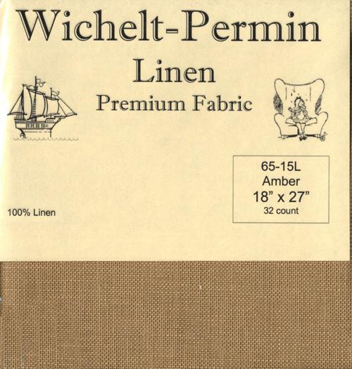 Wichelt - 32 Ct Amber Linen 18 x 27 in