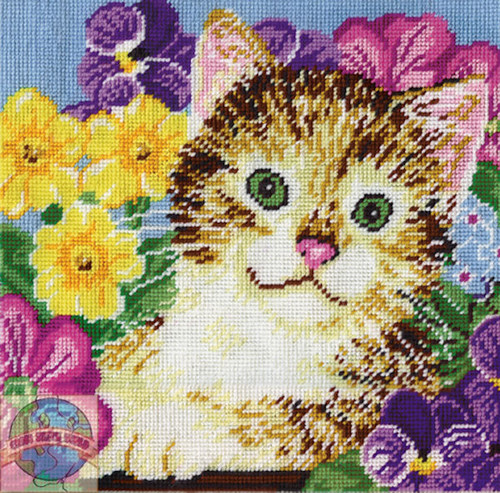 Design Works - Cat in Flowers