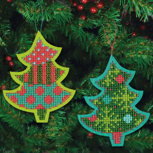 Dimensions - Set of 2 Jolly Tree Ornaments