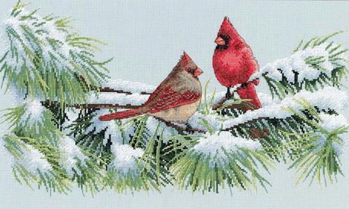 Dimensions - Winter Cardinals