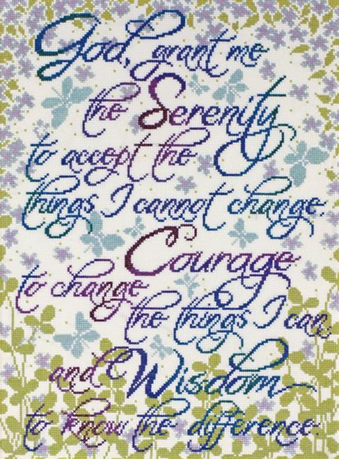 Design Works - Serenity Prayer Floral