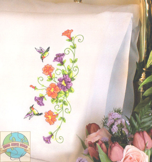 Dimensions - Sweet Hummingbirds Pillow Cases (2)