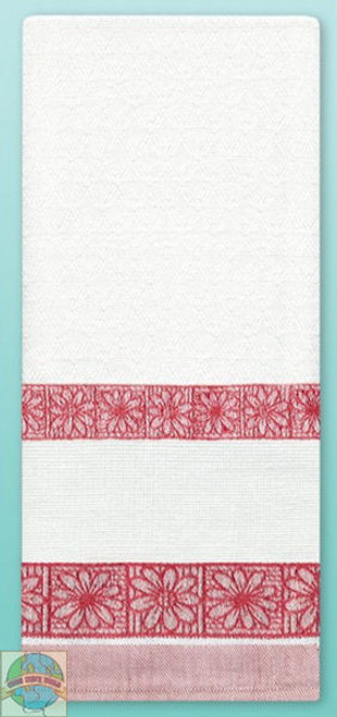 Design Works - Red Daisy Towel w/13ct Panel
