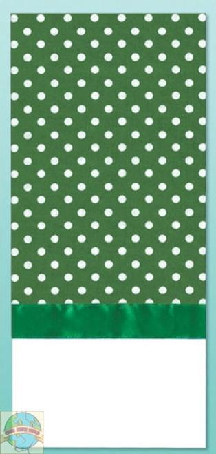 Design Works - Green Polka Dot Towel