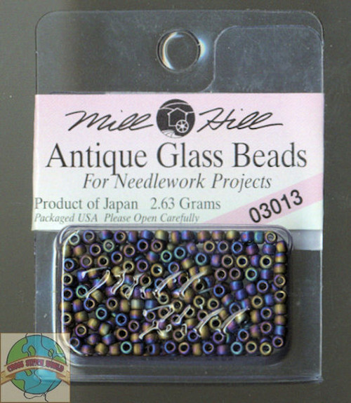 Mill Hill Antique Glass Beads 2.63g Stormy Blue H