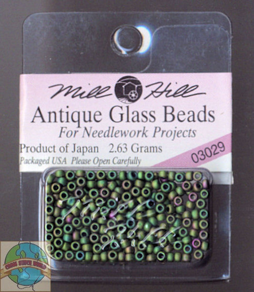 Mill Hill Antique Glass Beads 2.63g Autumn Green